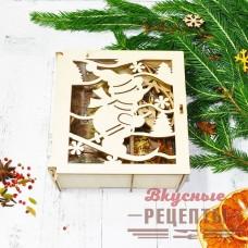 """Набор для глинтвейна """"Новогодняя шкатулка"""" (смесь специй+бокал+елочная игрушка)"""
