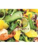 Салат с креветками и апельсиновой заправкой